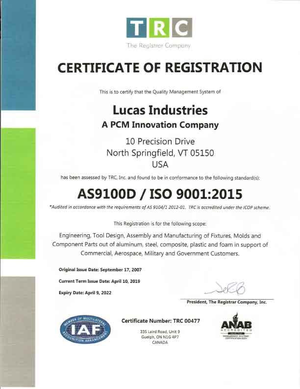 Certifications | Lucas Industries